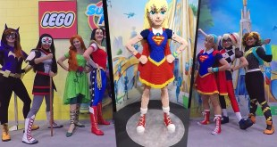 DC Super Hero Girls Dolls Lego & Cosplay @ 2016 New York Comic Con NYCC DC SuperHero Girls Video