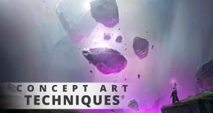 Epic Concept Art Walkthrough - Paint with me!