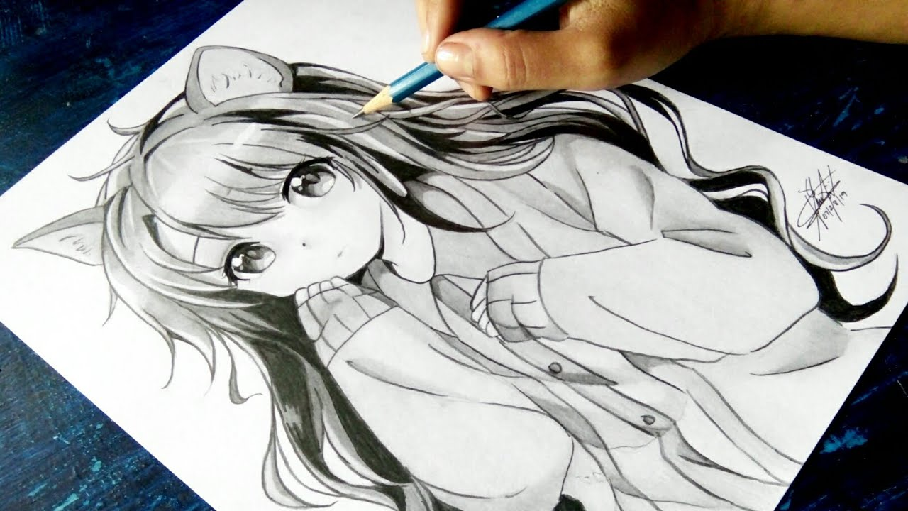 How To Draw Anime Neko Anime Drawing Tutorial For Beginners Epicheroes Movie Trailers Toys Tv Video Games News Art