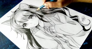 "How to draw Anime ""Neko"" [Anime Drawing Tutorial for Beginners]"