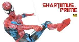 MAFEX Spider-Man Comic Version 2.0 Cell Shading Medicom Marvel Comics 4K Import Action Figure Review