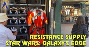 Resistance Supply merchandise carts in Star Wars: Galaxy's Edge