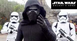 Star Wars Galaxy's Edge Character Montage at Disney World w/Kylo Ren, Chewbacca, Rey, Stormtroopers+