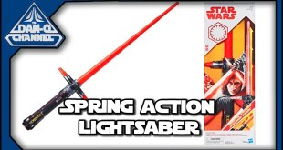 Star Wars Kylo Ren Spring-Action Lightsaber | Force Action Lightsaber toy review