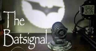 The Bat-Signal From Batman DC Comics Table Top  miniature prop with magnetic Logo change.