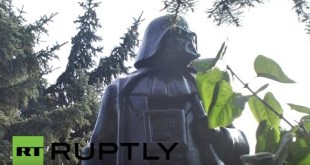Ukraine: Lenin statue turned into Star Wars' Darth Vader in Odessa