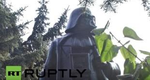 Ukraine: Lenin statue turned into Star Wars' Darth Vader in Odessa