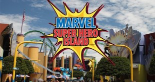 Walking around Marvel superhero island in Orlando, Fl