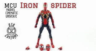 "Custom MCU Iron Spider Marvel Legends Spider-Man 6"" action figure review"