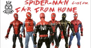 "Far From Home Spider-man Custom Marvel Legends Homecoming spider-man 6"" action figure review"