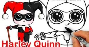 How to Draw Chibi Harley Quinn step by step Cute DC comics Villain