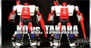 KO MP-14 ALERT vs. Takara MP-14 RED ALERT Transformers Masterpiece robot figure review