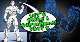 Let's Make a Superhero - Step by Step - Part 2 -  in Manga Studio 5