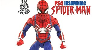 "PS4 Spider-Man Custom Marvel Legends Spider-Man 6"" action figure review"