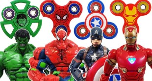 Spider Hulk, Red Hulk, Iron Man, Spider Man, Captain America, Marvel Avengers & Fidget Spinner