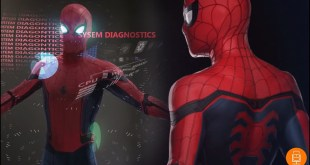 Spider-Man Concept Art Raised Web Suit & AI Interface Breakdown