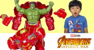 HULK OUT HULKBUSTER Marvel Avengers Infinity War Toys Unboxing Fun With TBTFUNTV