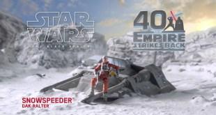 Hasbro Star Wars The Black Series Snowspeeder Vehicle and Dak Ralter Figure
