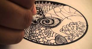 Let's Draw - 001: How to Draw Zentangles (Doodle Art) DrawCartoonsEasy [HD]!