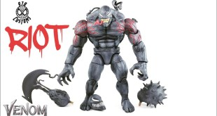 "RIOT VENOM MOVIE custom Marvel Legends Monster Venom BAF spider-man 6"" action figure review"