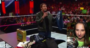 WWE Raw 9/29/14 Dean Ambrose Merchandise Give Away Live Commentary