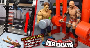 WWE WREKKIN PERFORMANCE CENTER PLAYSET! WWE ACTION FIGURES!