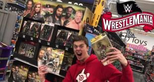 WWE Walmart TOY HUNT! + Wrestlemaina 36 DISPLAY