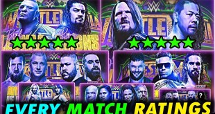 ⭐ Official Star Ratings for WWE Wrestlemania 34 & NXT Takeover New Orleans | 2 Five Star Matches