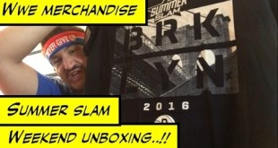 Duhop WWE SUMMER SLAM WEEKEND MERCHANDISE OVERLOAD UNBOXING