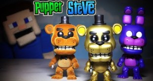 Five Nights at Freddy's FnaF Funko Pop Exclusives pt 4 Golden Freddy SDCC, Shadow Bonnie Flocked