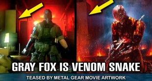 GRAY FOX is Venom Snake TEASED by Metal Gear MOVIE Concept Art?!