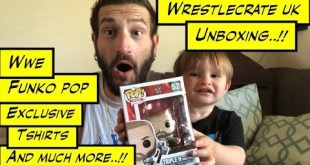 duhop WrestleCrate UK unboxing WWE Funko pop Autographs & more vlog