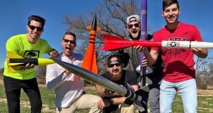 Model Rocket Battle | Dude Perfect