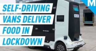 Self-Driving Vans Are Delivering Food During Coronavirus Pandemic  | Mashable
