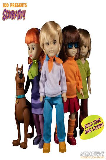 Scooby Doo Action Figures x 4 Living Dead Dolls Mezco Toys