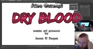 Dry Blood Comic - Art Process - Alice Concept