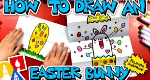How To Draw An Easter Bunny Folding Surprise #stayhome and draw #withme