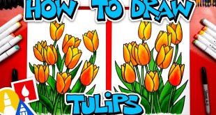 How To Draw Spring Tulips - #stayhome and draw #withme