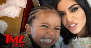 Kim Kardashian Son, Saint, Says She Is 11 And Leaves Him Alone | TMZ TV