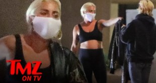 Lady Gaga Gifts Leather Jacket Off Her Back To Fan Who Complimented Her | TMZ