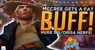Overwatch: McCree Gets FAT BUFF! - MASSIVE Orisa Sigma NERFS!