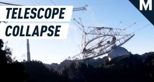 A 1,000-Foot-Wide Telescope Collapsed in Puerto Rico | Mashable