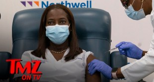 First COVID Vaccine in New York Administered to Black Healthcare Worker | TMZ TV