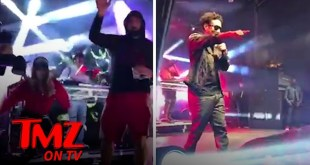 Rob Gronkowski & GF Camille Kostek Dance with At SB Victory Bash! | TMZ TV