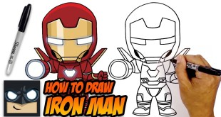 How to Draw Iron Man | Avengers | Step-by-Step Tutorial