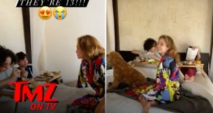 J Lo's Twins Celebrate 13th Birthday With Breakfast In Bed | TMZ TV
