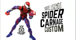 "Spider Carnage Custom Marvel Legends Spider-man 90's animated series 6"" action figure review"