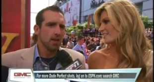 Erin Andrews and Dude Perfect at the ESPYs