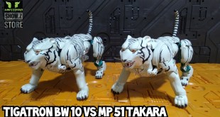 Review Transformers BW 10 Tigatron BmB y comparaiva con MP 51 Takara Masterpiece Beast wars Javitron