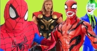 Cosplay Cosplayers Homem Aranha Thor Marvel Select x Coringa Carnificina Carnage DC Comics bonecos